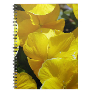 Yellow-petals529 YELLOW PANSIES FLOWERS PHOTOGRAPH Notebook