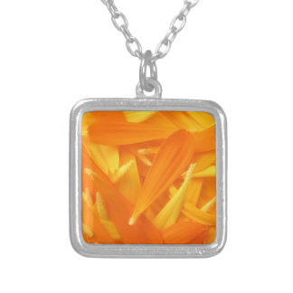 Yellow Petals Silver Plated Necklace