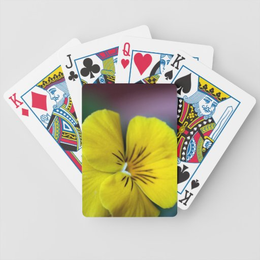 Yellow Petunia Flower Bicycle Playing Cards