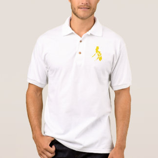 Yellow Philippine Map Polo T-shirts