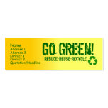 yellow, phone_recycle, Name, Address 1, Address... Double-Sided Mini Business Cards (Pack Of 20)