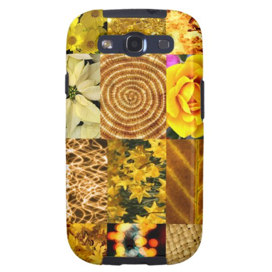 Yellow photo collage samsung galaxy s3 case