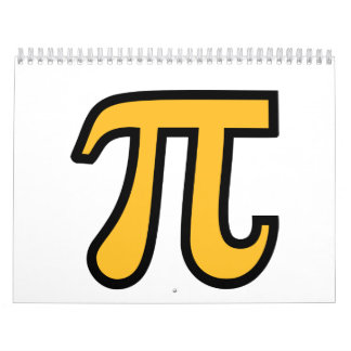Yellow Pi symbol Calendar