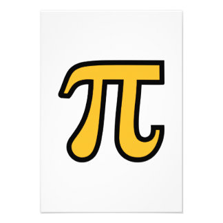 Yellow Pi symbol Invitations