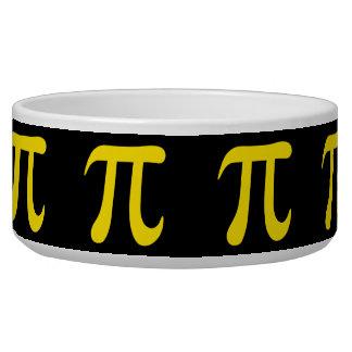 Yellow pi symbol on black background bowl