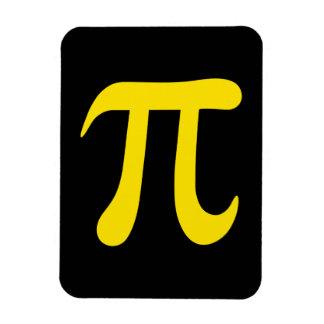 Yellow pi symbol on black background vinyl magnets