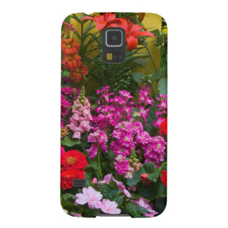 Yellow picket fence with flower garden in galaxy s5 cover