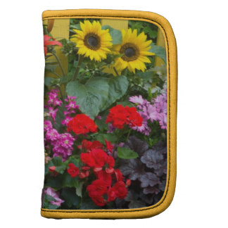 Yellow picket fence with flower garden in folio planner