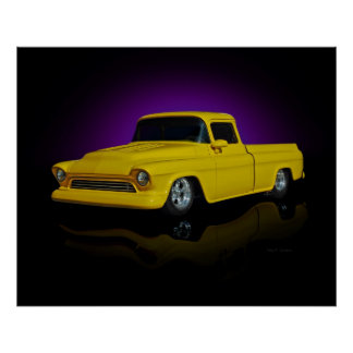 Yellow Pickup Poster