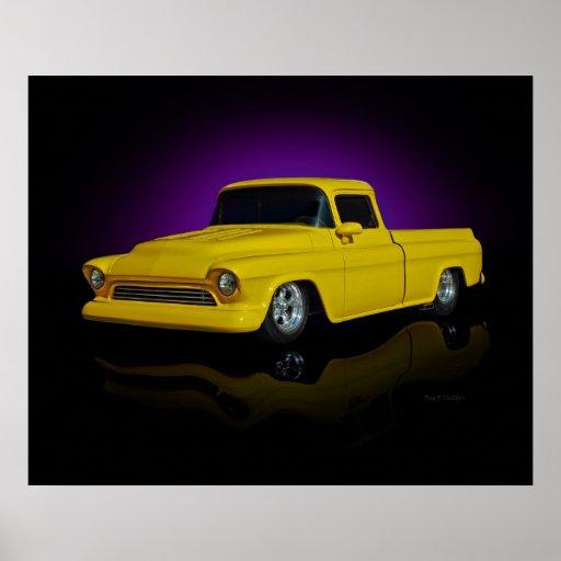 Yellow Pickup Poster