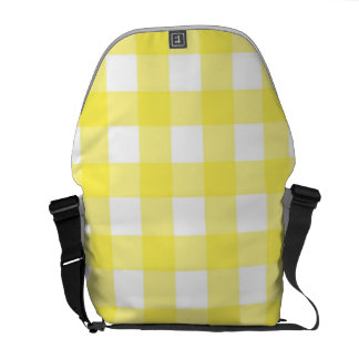 Yellow Picnic Pattern Courier Bag