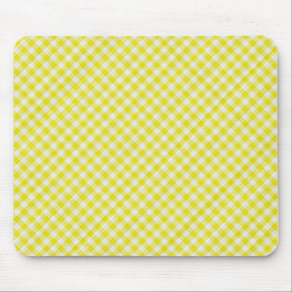 yellow picnic table cloth mouse pad