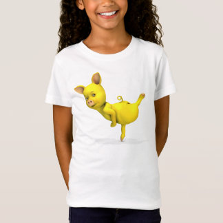 Yellow Pig Arabesque T-Shirt