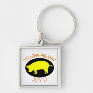 Yellow Pig Day Keychains