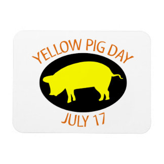 Yellow Pig Day Magnets