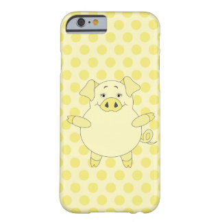 Yellow Pig Polkadots Barely There iPhone 6 Case