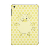 Yellow Pig Polkadots iPad Mini Retina Case