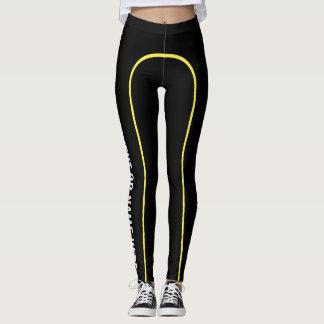 Yellow Pin Stripe Customisable Named Leggings