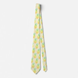 Yellow Pineapple Neck Tie