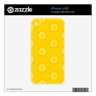 Yellow Pineapple Slices Pattern Decal For The iPhone 4