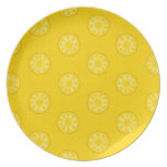 Yellow Pineapple Slices Pattern Dinner Plate