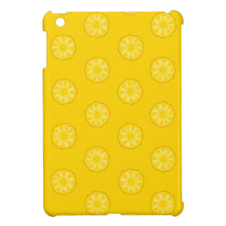 Yellow Pineapple Slices Pattern iPad Mini Case