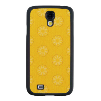 Yellow Pineapple Slices Pattern Carved® Maple Galaxy S4 Case