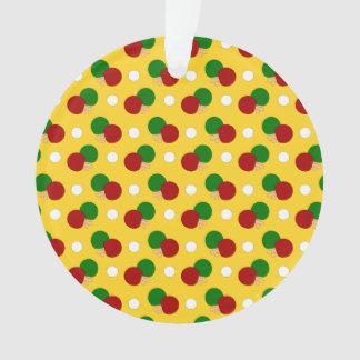 Yellow ping pong pattern