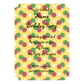 Yellow ping pong pattern invitation