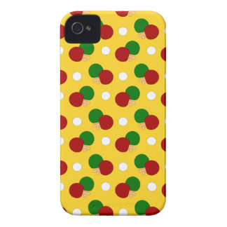Yellow ping pong pattern iPhone 4 cover