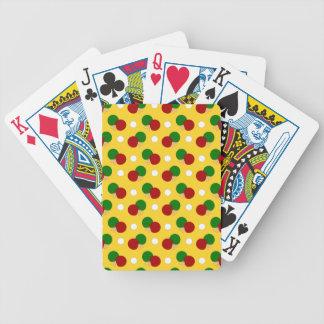 Yellow ping pong pattern poker deck