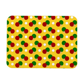 Yellow ping pong pattern vinyl magnets
