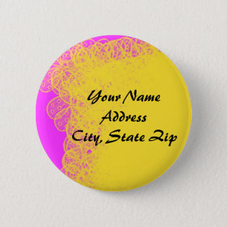 Yellow Pink Abstract Buttons