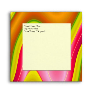 yellow pink abstract envelope