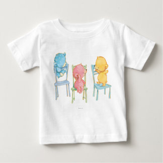 Yellow, Pink, and Blue Bears on Chairs Baby T-Shirt