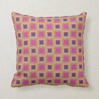 Yellow, Pink and Purple Windowpane Pillows
