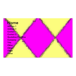 Yellow-Pink Brush Stroke Profile Card Double-Sided Standard Business Cards (Pack Of 100)
