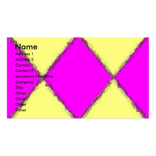 Yellow-Pink Brush Stroke Profile Card Business Card