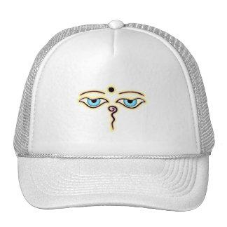 Yellow Pink  Buddha Eyes.png Trucker Hat