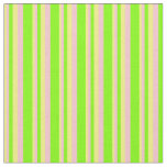 [ Thumbnail: Yellow, Pink & Chartreuse Lines/Stripes Pattern Fabric ]