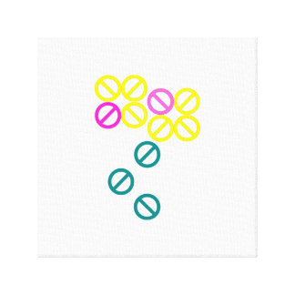 Yellow Pink Circle Flower Floral Blossom Canvas