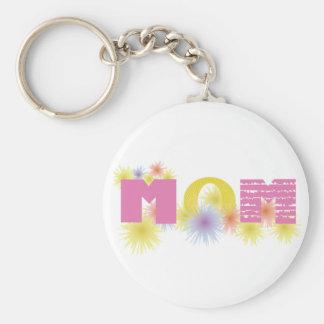Yellow & Pink Mom Key Chain