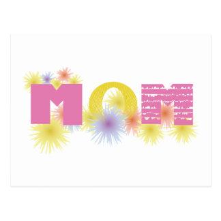 Yellow & Pink Mom Postcard