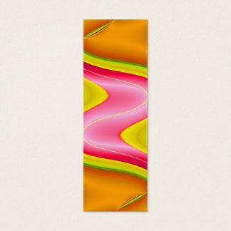 yellow pink orange bookmark mini business card