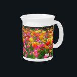 "Yellow pink orange red tulips beverage pitcher<br><div class=""desc""></div>"