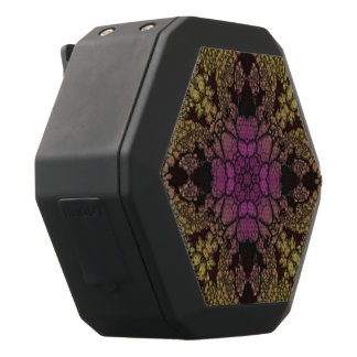 Yellow Pink Purple Abstract Black Bluetooth Speaker