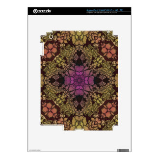 Yellow Pink Purple Abstract iPad 3 Skin