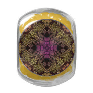 Yellow Pink Purple Abstract Jelly Belly Candy Jars