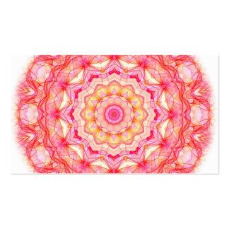 Yellow Pink Romance kaleidoscope Business Card