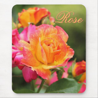 Yellow Pink Rose Mousepad
